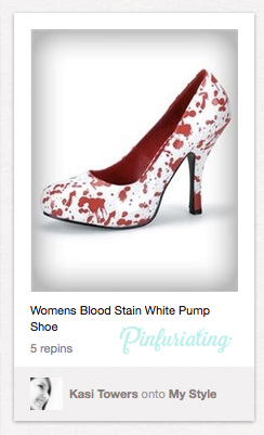 Another pin of blood splattered shoes. Gross trend.