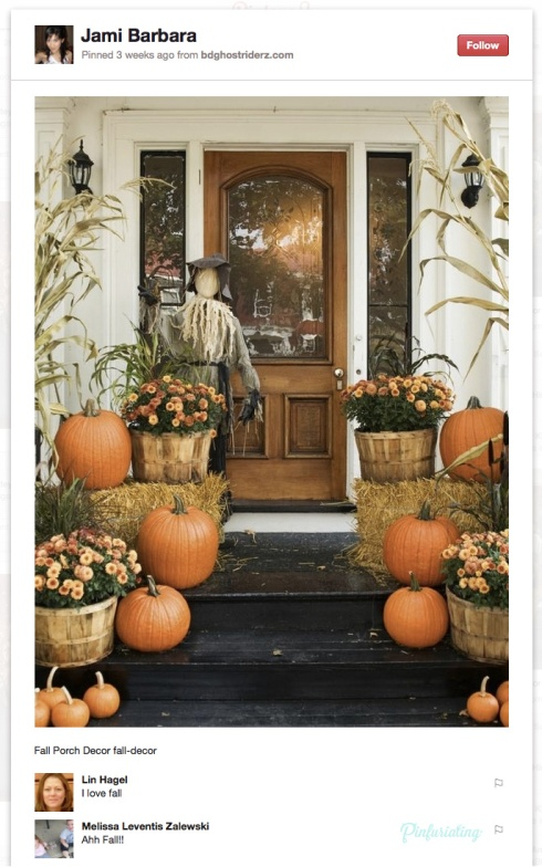 Another ridiculous doorscape for fall, found on Pinterest.