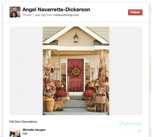 An overly elaborate door concept for fall, found on Pinterest.