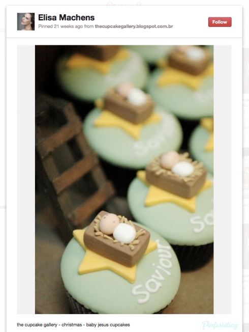 Screencap of a Pinterest pin of saviour jesus cupcakes.