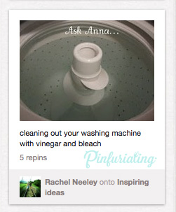 Screen cap of an Ask Anna pin of a clean washing machine.