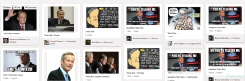Angry Pinterest pins of Todd Akin