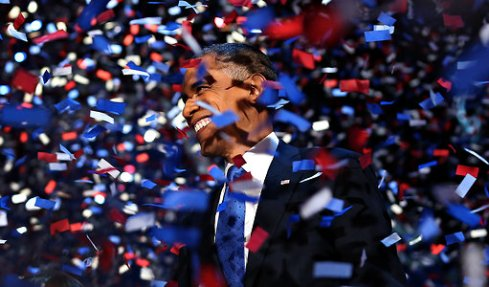 Obama on election night 2012