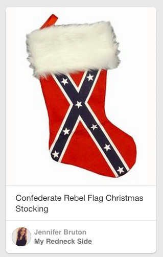 Confederate flag stocking